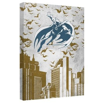 Batman - City Vibe Canvas Wall Art With Back Board