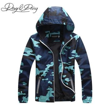 Cool DAVYDAISY Men Camouflage Jacket Thin Sunscreen Coat Hooded Windproof Reflective Military Jacket Couple Clothing DCT-118AT_93_12