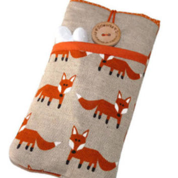 iPhone 7 Case, iPhone 6 Sleeve, iPhone 7 Plus Case, iPod, iPhone SE Case, iPhone 6 Cover, iPhone 7 Pouch, Fox, iPhone 7 Sleeve - Foxes