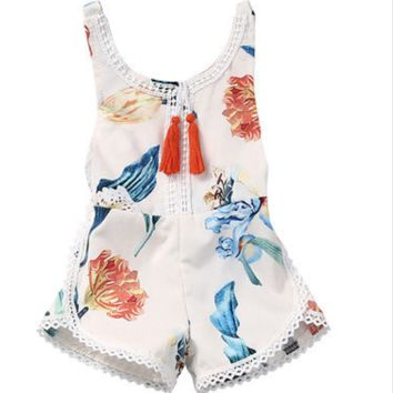 Baby Girls Tassled Romper