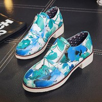 Womens Stylish Floral Casual Boots