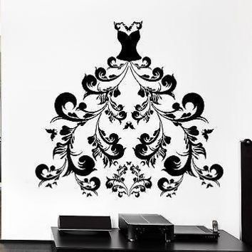 Wall Decal Women's Dress Girl Fashion Style Shopping Stickers Art Unique Gift (ig2517)