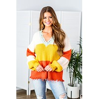 Drops Of Sunshine Distressed Sweater