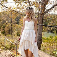 High Low Hem Wedding Dress Stella by by thepeppermintpretty