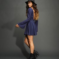 Navy Dawn Boho Dress