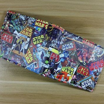 Star Wars Force Episode 1 2 3 4 5 2018  wallet Darth Vader animated cartoon wallet purse young students personality wallet  W261 AT_72_6