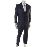 Donald J. Trump Mens Wool Pinstripe Two-Button Suit