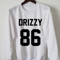 Drake Drizzy Sweatshirt Drake Drizzy Sweaters Drizzy 86  Logo Black, White, Gray, Maroon Unisex Sweaters Tee S,M,L,XL #1