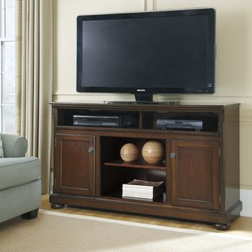 Ashley Furniture W697-68 Porter vi collection casual style rustic brown finish wood tv stand