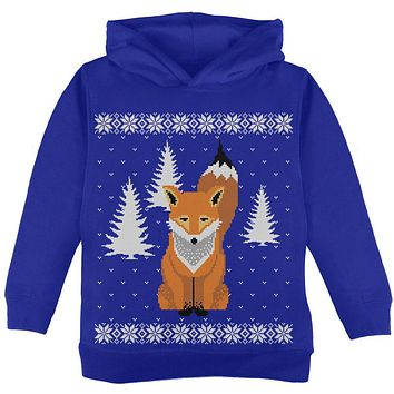 Big Fox Ugly Christmas Sweater Toddler Sweatshirt