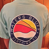 Waters Bluff Wave Tee- Mint