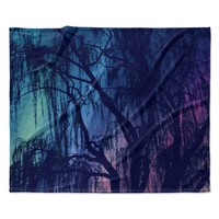 "Robin Dickinson ""Weeping"" Purple Tree Fleece Throw Blanket"