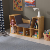 Bookcase with Reading Nook - Natural