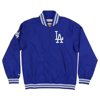 Mitchell & Ness 1/4 Zip Nylon Pullover Los Angeles Dodgers