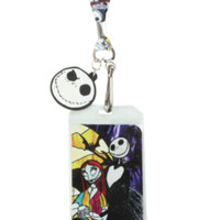 The Nightmare Before Christmas Jack & Sally Stained Glass Lanyard