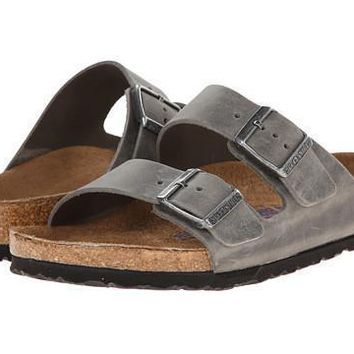 Birkenstock Arizona Soft Footbed Sandais Iron - Beauty Ticks