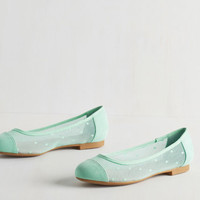 Pastel Confection Perfection Flat in Mint