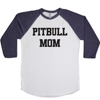 Pitbull Mom  Unisex Baseball Tee