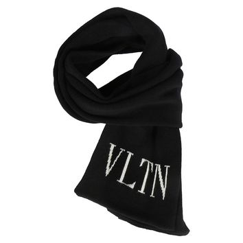 Black Logo Scarf by Valentino