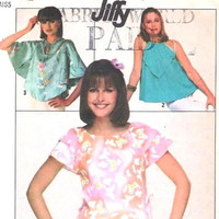 Easy Blouse Pattern: Size 10 12, Bust 32 34, Vintage Simplicity Sewing Pattern 8062