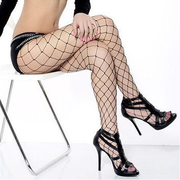 Sexy Women Big Mesh Fishnet Net Pattern Pantyhose Stockings Tights