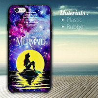 Fantasy disney & The Little mermaid Galaxy Nebula phone case iPhone 4/4S, 5/5S, 5C, 6 Series Hard Plastic Case
