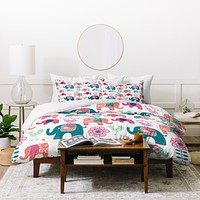 Wendy Kendall Helly Friends Duvet Cover