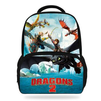 14Inch Hot Sale Cartoon Bag For Children How To Train Your Dragon Backpack For Kids School Boys Girls Bookbags