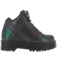 YRU SLAYR REFLECTIVE Multi Colored Reflective Punk Shoe Military Boots unisex