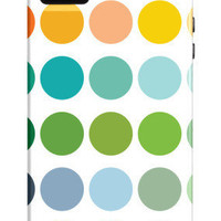 Rainbow Dots iPhone 4/4S Case by Avalisa at AllPosters.com