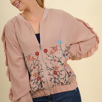 Richmond Embellished Bomber Jacket