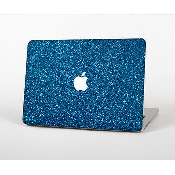 "The Blue Sparkly Glitter Ultra Metallic Skin Set for the Apple MacBook Pro 15"" with Retina Display"