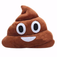 EMOJI PILLOW POOP FACE