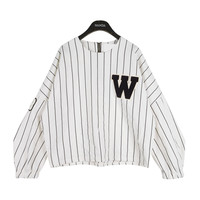 Baseball Fan Striped T-Shirt