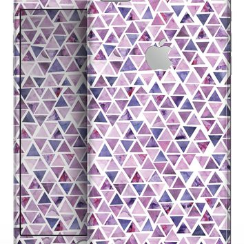 Purple Watercolor Triangle Pattern - Skin-kit for the iPhone 8 or 8 Plus
