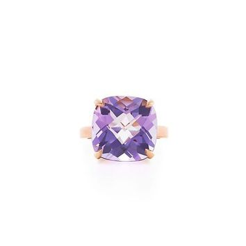 Tiffany & Co. -  Tiffany Sparklers lavender amethyst ring in 18k rose gold.