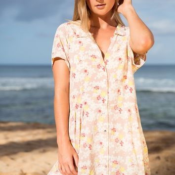ACACIA Swimwear 2019 Lima Cotton Silk Dress in Cherry Blossom