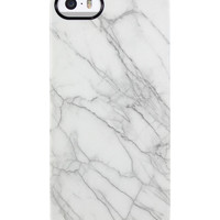 Uncommon Women's Marble White iPhone 5/5S TS Deflector Case - White