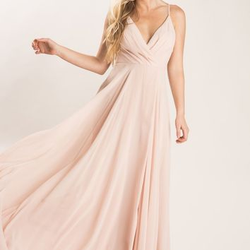 Cassidy Blush Flowy Maxi Dress