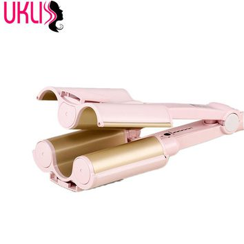2017 Hot Sale Hair curler Triple Barrel Curler Hair Curling Iron Ceramic Tourmaline Curlers Party Hair Care Styling Tools