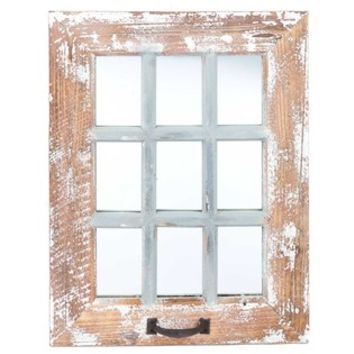 9-Pane Antique Wood Wall Mirror | Shop Hobby Lobby