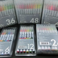 ZIG Kuretake Brush Pens CLEAN COLOR REAL BRUSH Set RB-6000AT Japan