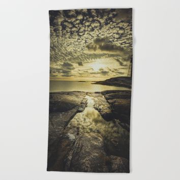 Good night sweet sun Beach Towel by HappyMelvin