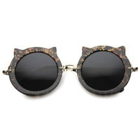 Women's Round Spiked Cat Eye Sunglasses A018
