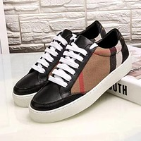 Burberry Woman Men Fashion Old Skool Flats Shoes