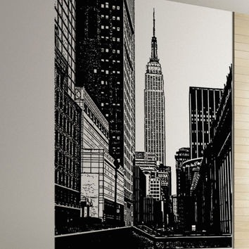 Vinyl Wall Decal Sticker Empire State Building Scenery #5206