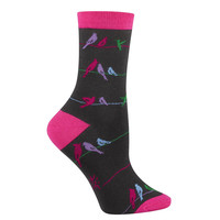 Sock it to Me Womens Birds on a Wire Socks