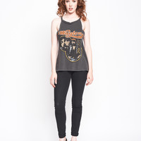 Waylon Collage Halter Tank - Vintage Black
