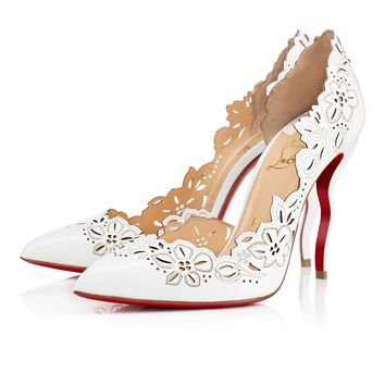Beloved 100mm White Patent Leather