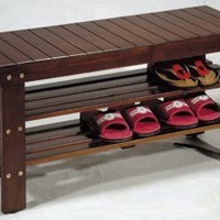 Wooden Shoe Bench